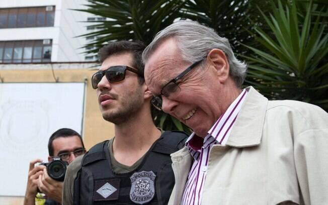 Suspeito de ligação com Alberto Yousseff, Adarico Negromonte é preso pela PF, em novembro.. Foto: Cassiano Rosário/Futura Press