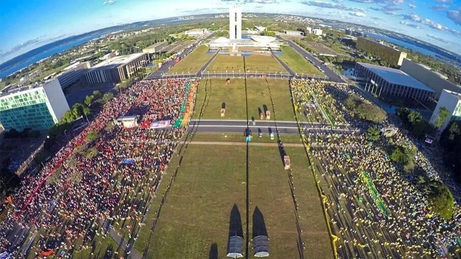 Atos políticos em Brasília