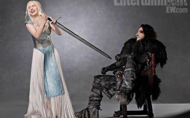 Daenerys (Emilia Clarke) e Jon Snow (Kit Harington) seriam os grandes protagonistas de