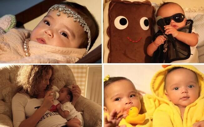 Mariah Carey e os filhos Monroe e Moroccan