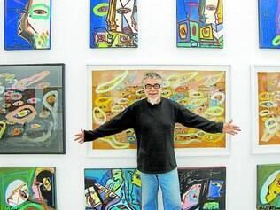 Casa. Fernando Pacheco expandiu o ateliê onde trabalha há mais de três décadas para receber outros artistas e projetos da cidade