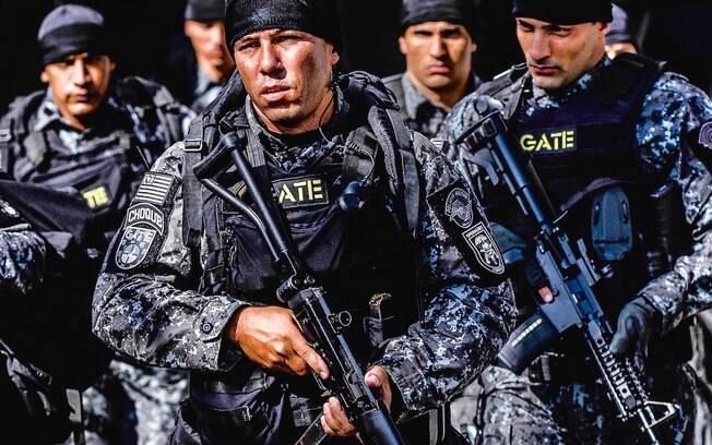 O GATE possui várias equipes com treinamentos e equipamentos muito específicos, como os Negociadores, o Esquadrão de Bombas, os Atiradores de Elite e as Equipes de Invasão Tática (acima)