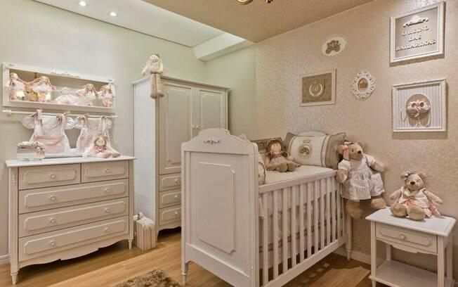 Prefira cores que tragam tranquilidade e calma para o bebê, que vai passar boa parte de seus primeiros meses por lá