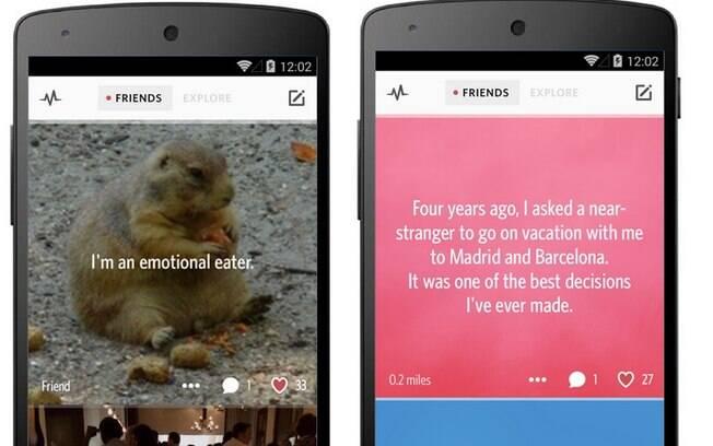 Secret era aplicativo para compartilhar segredos anonimamente. Grátis para iPhone e Android