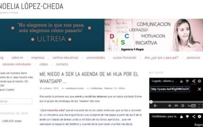 O blog de Noelia Lopez-Cheda já recebeu mais de 1 milhão de visitas