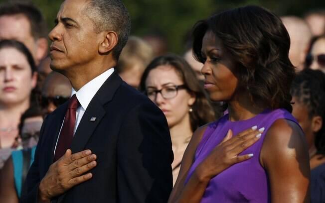 Obama e a primeira-dama Michelle Obama participam de cerimônia pelos 12 anos dos ataques do 11 de Setembro (11/9/2013)
