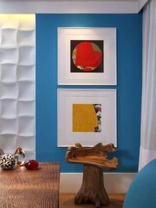 O azul é uma boa opção de cor para dar um colorido à casa