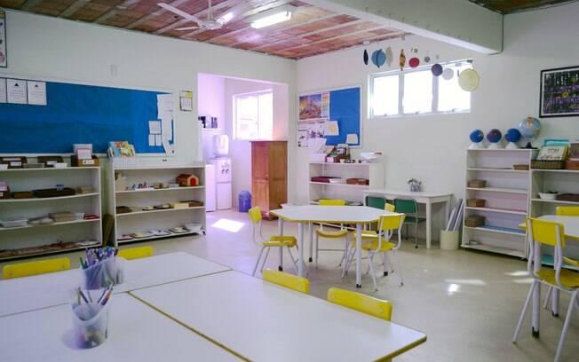 Os móveis pensados por Maria Montessori são até hoje utilizados na maioria das salas de escolas de educação infantil