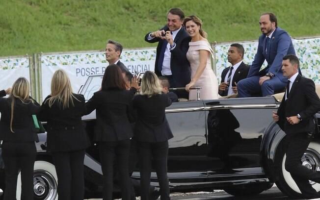 Presidente eleito Jair Bolsonaro chega ao Congresso Nacional