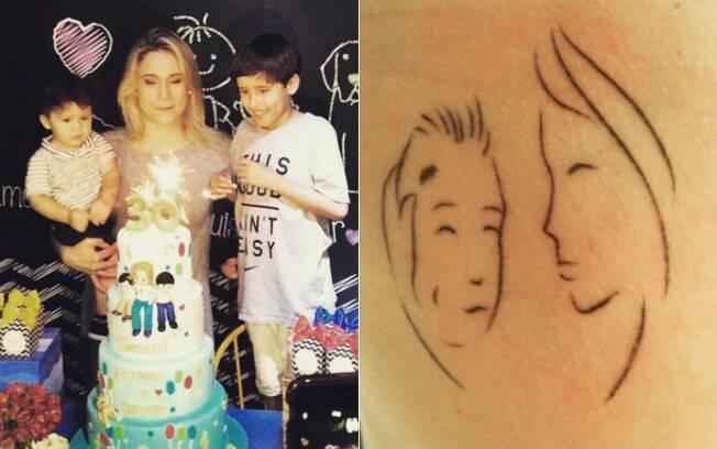 Jornalista e apresentadora Fernanda Gentil fez uma tatuagem no início do ano para homenagear o filho e o afilhado