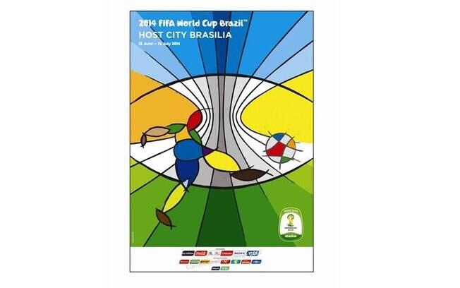 Brasília-DF - Pôster oficial da Copa do Mundo  de 2014