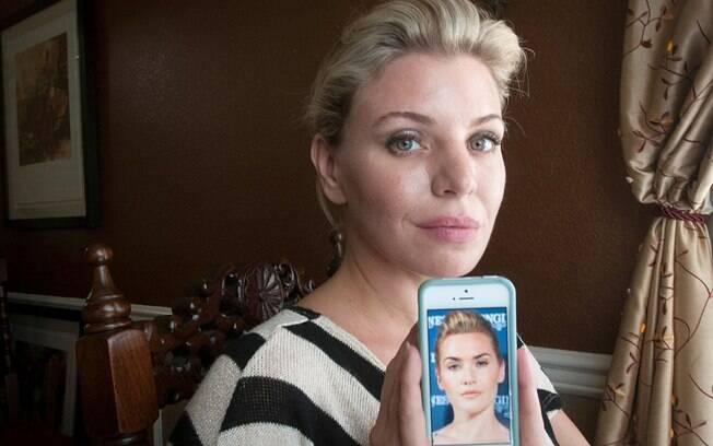 O objetivo de Deborah Davendport é parecer-se com a atriz Kate Winslet - antes, ela era comparada à também atriz Cameron Diaz