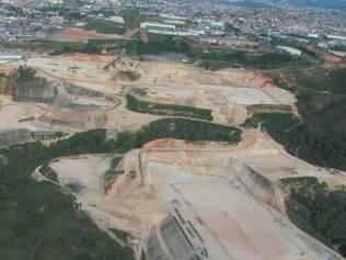 Área de 400 mil m², às margens da BR–381, foi devastada