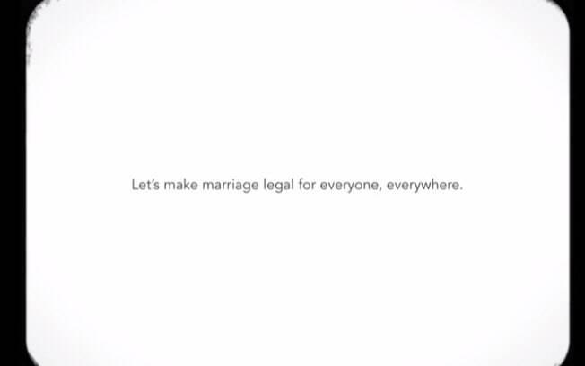 Mensagem final: por todas as lembranças que nunca aconteceram, vamos fazer o casamento ser legal para todo mundo, em todo lugar