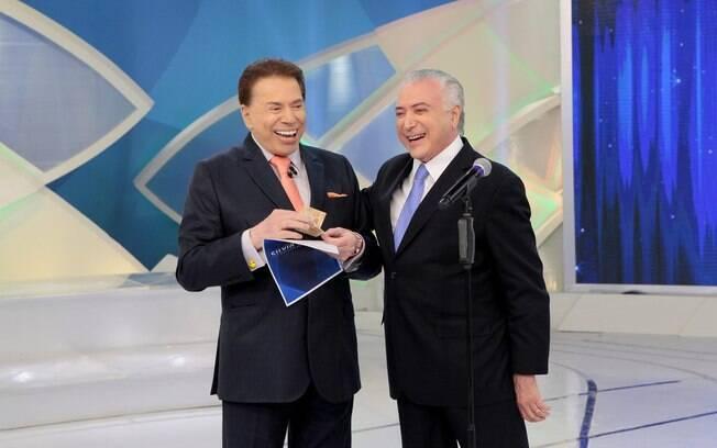 Silvio Santos recebe o presidente Michael Temer em seu próximo programa