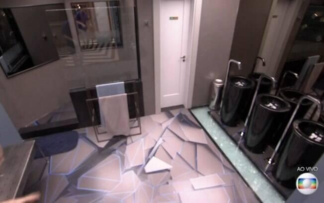 O banheiro do Big Brother Brasil deixa a bancada de lado e traz, em seu lugar, as pias com torneiras de chão