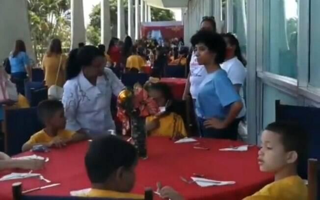 Crianças foram convidadas pelo projeto beneficente da primeira-dama Michelle Bolsonaro