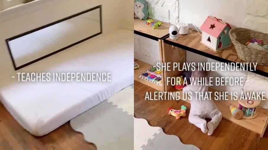 Mãe deixa bebê dormir em colchão no chão