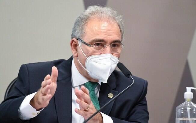 Marcelo Queiroga, ministro da Saúde, em depoimento à CPI da Covid