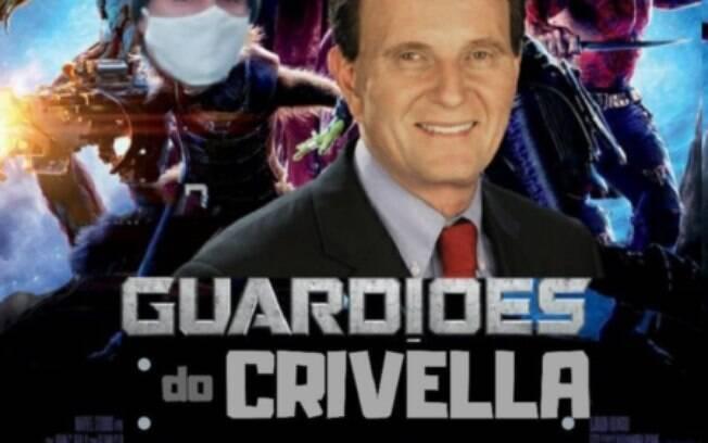 Internautas fizeram memes com o caso dos Guardiões do Crivella, simulando cartaz do filme Guardiões da Galáxia, da Marvel