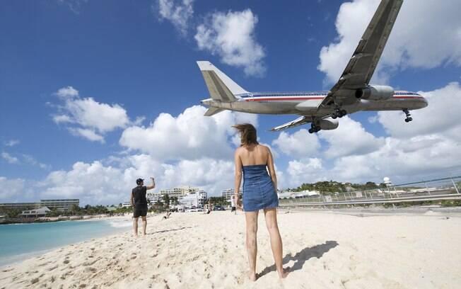 Praia de Saint Martin no Caribe