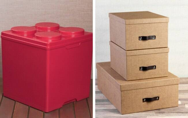 As caixas organizadoras permitem guardar diversos itens do dia a dia e deixá-los ainda mais organizados no quarto