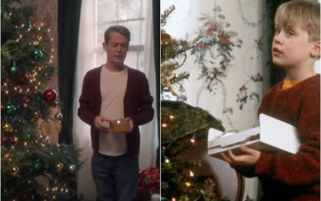 Macaulay Culkin recria cenas do clássico natalino