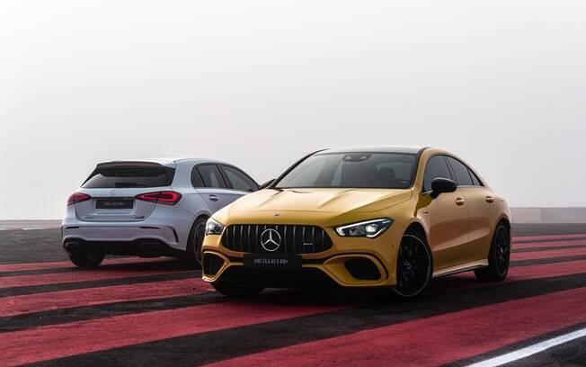 Mercedes-AMG A 45 S e CLA 45 S: ambos contam com tração integral e nada menos que 421 cavalos de potência