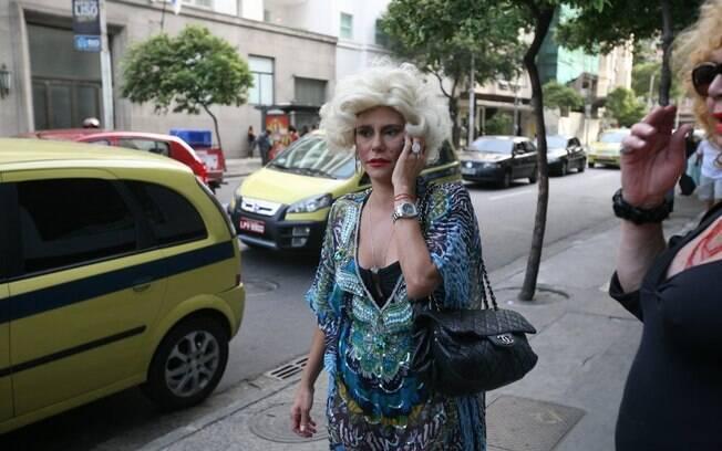 Narcisa saiu às ruas como Marilyn