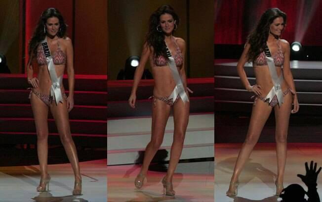 A Miss Brasil Priscila Machado de biquíni