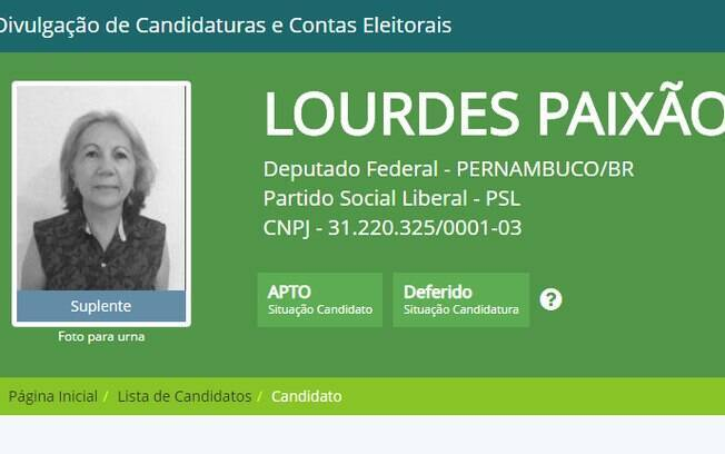 Candidata Maria de Lourdes Paixão, do PSL, recebeu R$ 400 mil do fundo partidário