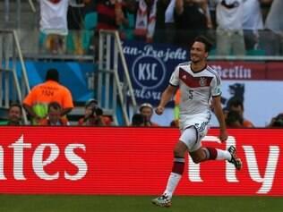 Hummels marcou o gol da classificação alemã nas quartas de final