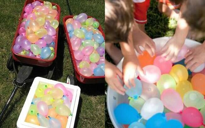 Pool party infantil: brincadeiras com água, bexiga e bolhas de sabão são uma boa pedida para  ambiente externo