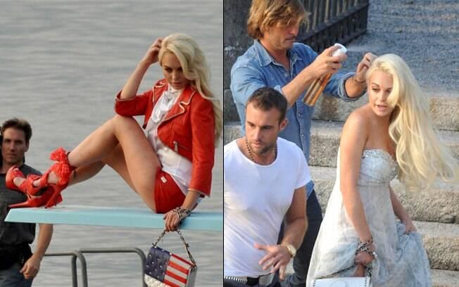 Lindsay Lohan para a nova campanha da marca