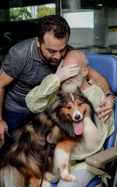 dono se emociona ao ver cachorro