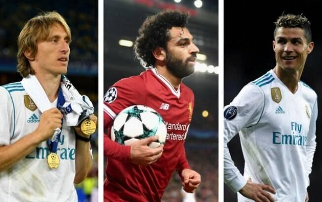 Os três concorrentes ao prêmio Jogador do Ano da Uefa