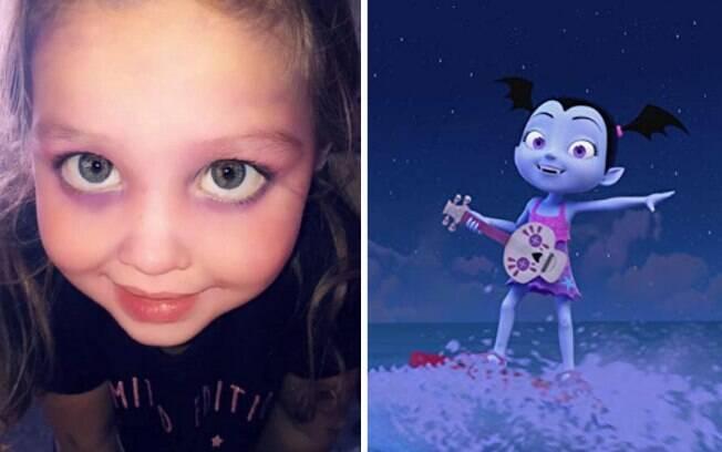 O objetivo de Skyla-Rae era ficar parecida com a Vampirina, personagem de uma série de televisão da Disney