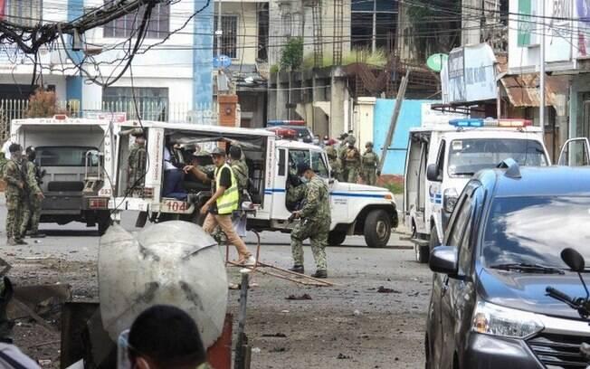 Explosões atingiram a cidade de Jolo, na província filipina de Sulu, nesta segunda-feira (24)