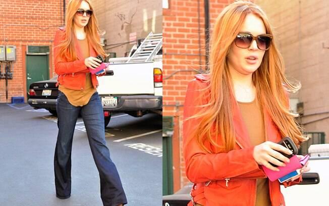 Lindsay Lohan voltou a ser ruiva
