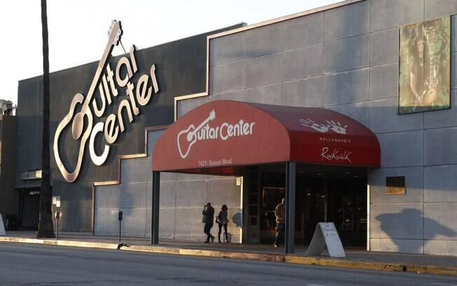 A famosa loja de música Guitar Center, em Hollywood