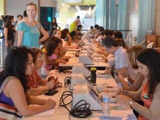 Seção de Justificativa Eleitoral no Shopping Pátio Brasil, no Setor Comercial Sul em Brasília