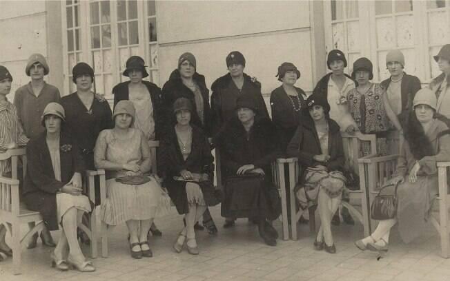 Jerônima Mesquita foi uma das participantes da Federação Brasileira pelo Progresso Feminino (na fotografia, em 1930)