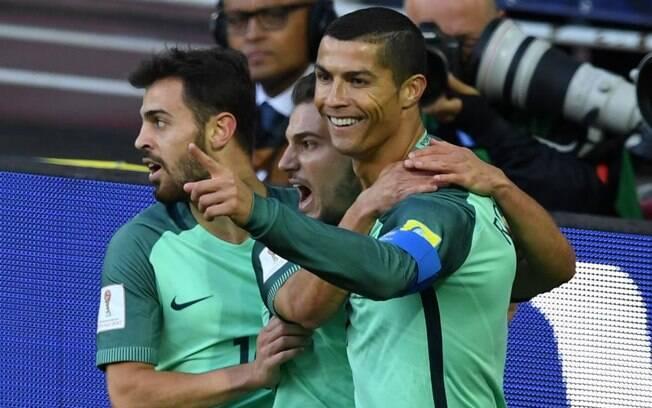 Cristiano Ronaldo garantiu a vitória de Portugal contra a Rússia
