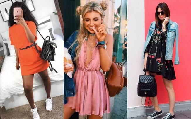 Looks com mochila de couro também podem ser cheios de estilo ao acrescentar outros acessórios para compor o visual