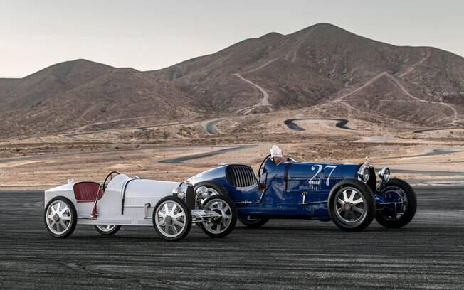 Bugatti Baby II e Type 35: réplica de brinquedo vem com visual que se aproxima do modelo clássico original