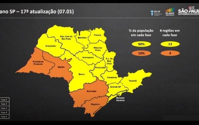 Campinas continua na fase amarela do Plano São Paulo