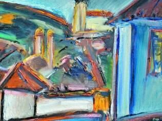 Obra. 'Paisagem com Casa de Cláudio Manoel', de 2005, pintura de Carlos Bracher que está na mostra