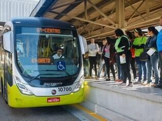 CIDADES - BELO HORIZONTE - MG  Primeiro dia da implementacao do MOVE na estacao Venda Nova .  FOTO : Uarlen Valerio / O Tempo  13.06.2014