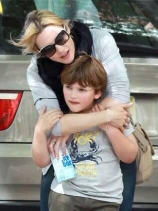 Kate Winslet com o filho Joe