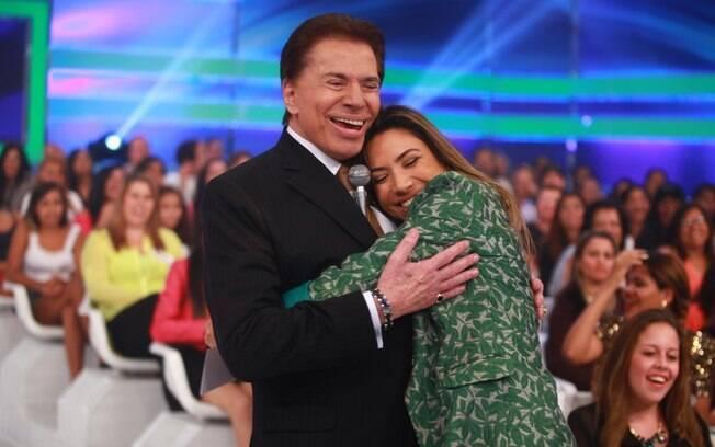 Silvio Santos e Patricia Abravanel